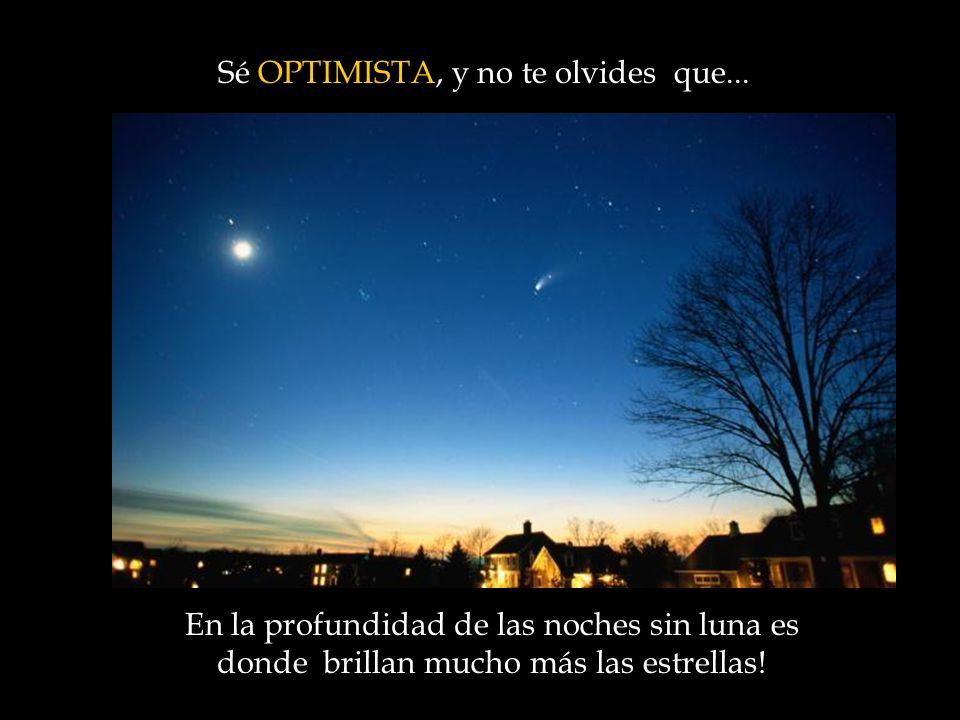En la profundidad de las noches sin luna es donde brillan mucho más las estrellas.