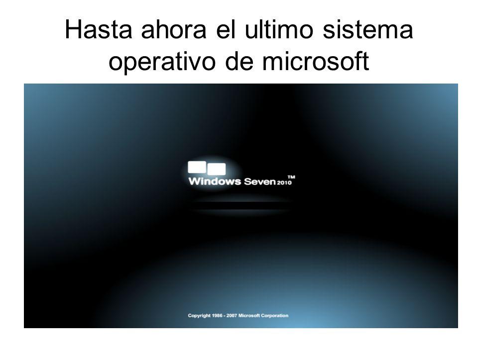 Hasta ahora el ultimo sistema operativo de microsoft