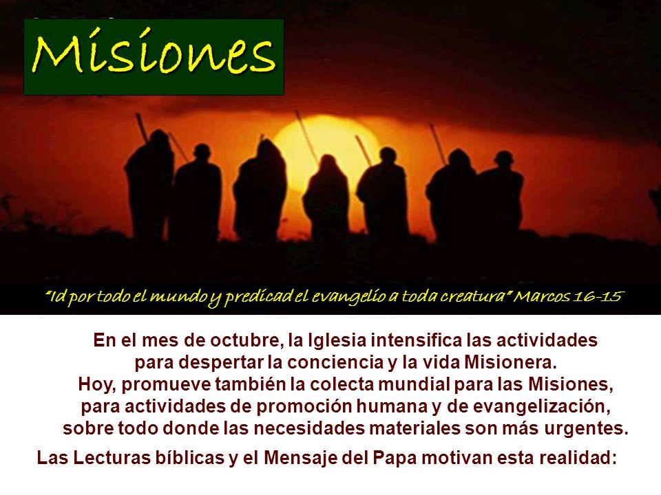 También en las Iglesias en los territorios de misión, iglesias en su mayoría jóvenes, frecuentemente de reciente creación, el carácter misionero se ha hecho una dimensión connatural, incluso cuando ellas mismas aún necesitan misioneros.