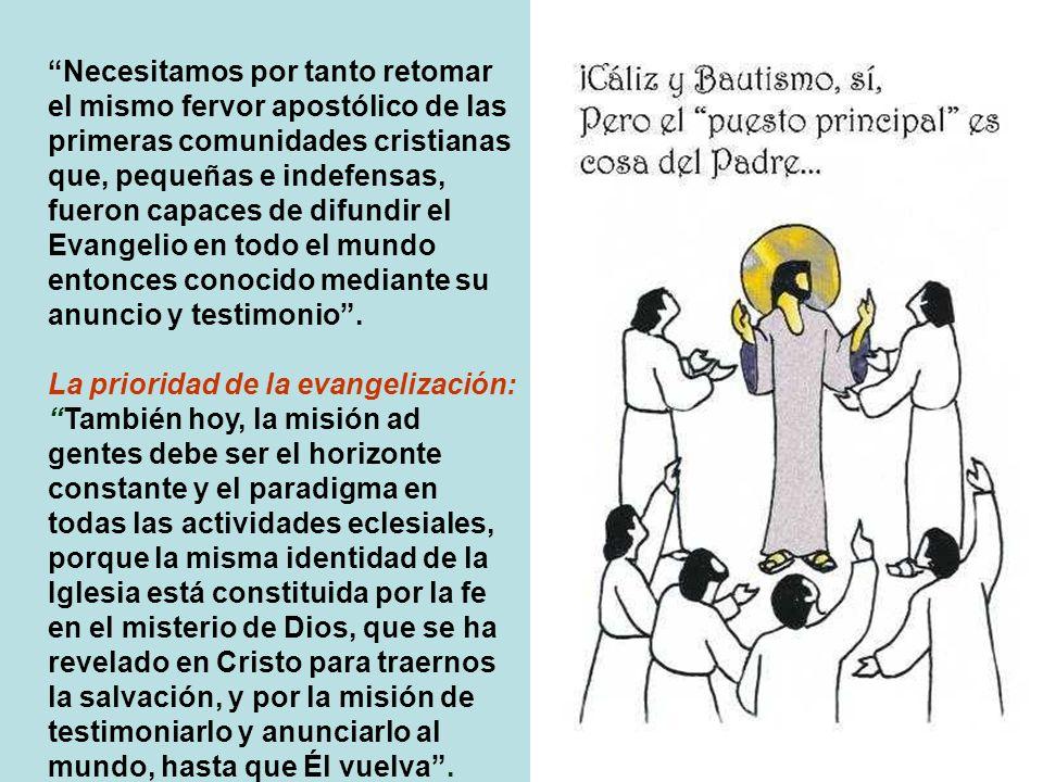 Eclesiología misionera: Los hombres que esperan a Cristo son todavía un número inmenso... «No podemos quedar tranquilos, al pensar en los millones de