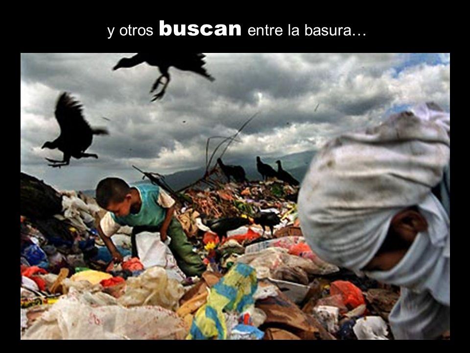 y otros buscan entre la basura…