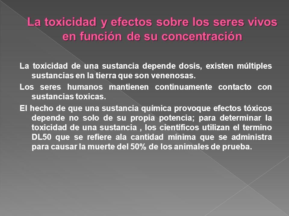 La toxicidad de una sustancia depende dosis, existen múltiples sustancias en la tierra que son venenosas.