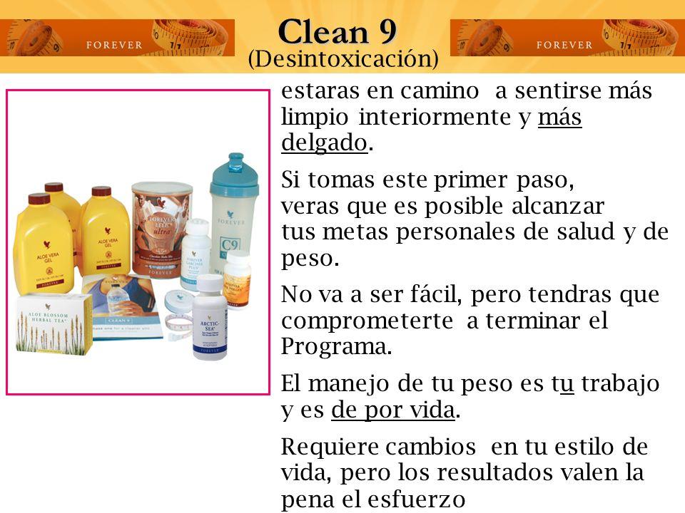 Haz el Programa de limpieza Nutricional por 9 días. antes de tener cualquier problema de salud y obtendras ¡resultados sorprendentes!. Clean 9 (Desint