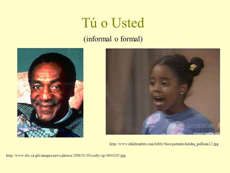 Tú o Usted (informal o formal) http://www.childstarlets.com/lobby/bios/portraits/keisha_pulliam12.jpg http://www.cbc.ca/gfx/images/news/photos/2008/05