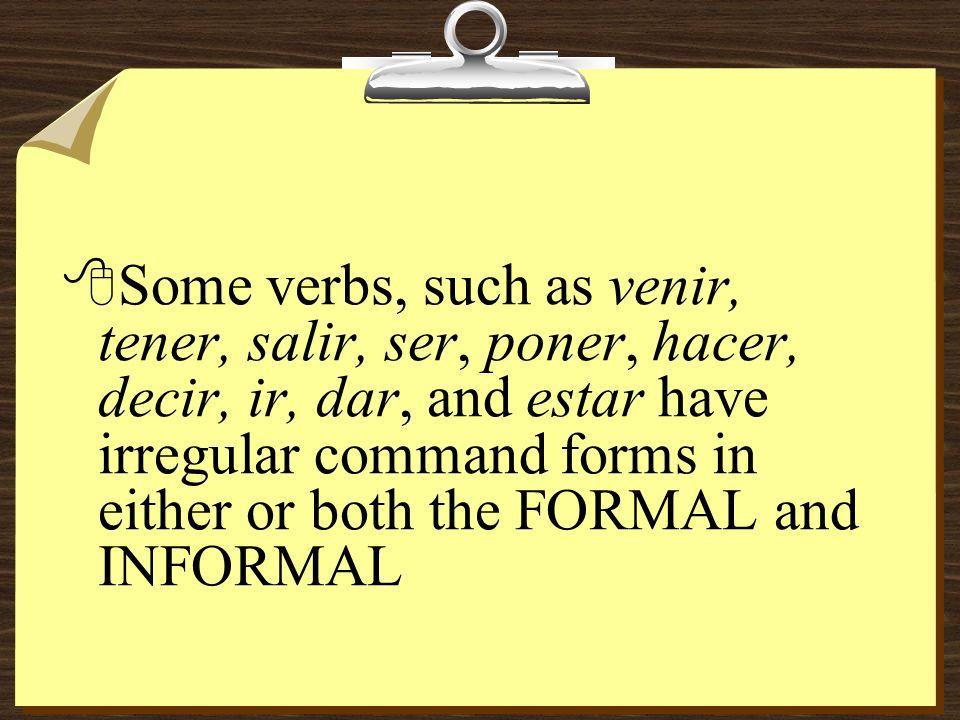 PRÁCTICA 8Cerrar----yo como 8Formal: comacoman 8Formal negative:no comano coman 8Informal: come 8Informal negative: no comas