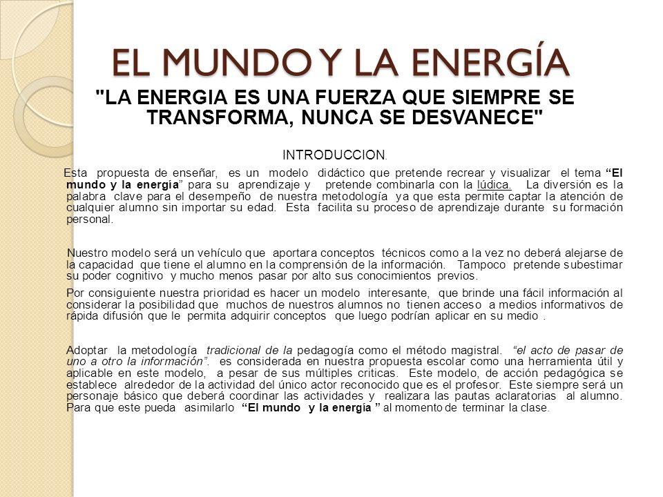 EL MUNDO Y LA ENERGÍA