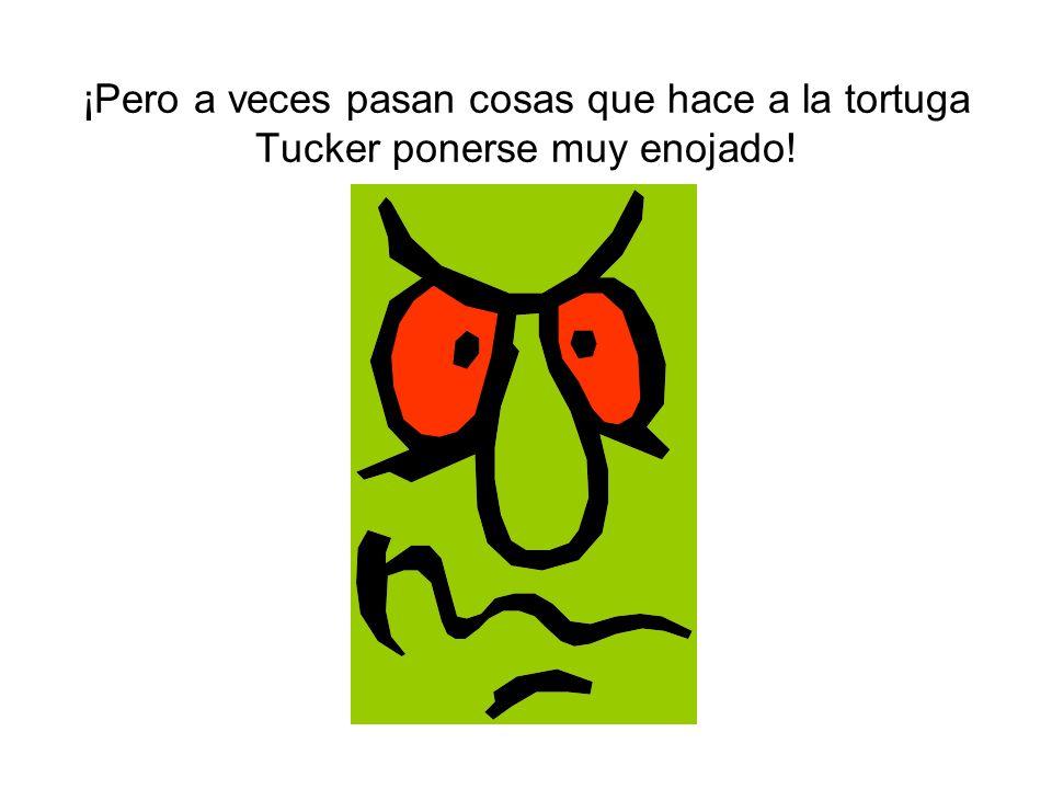 ¡Pero a veces pasan cosas que hace a la tortuga Tucker ponerse muy enojado!