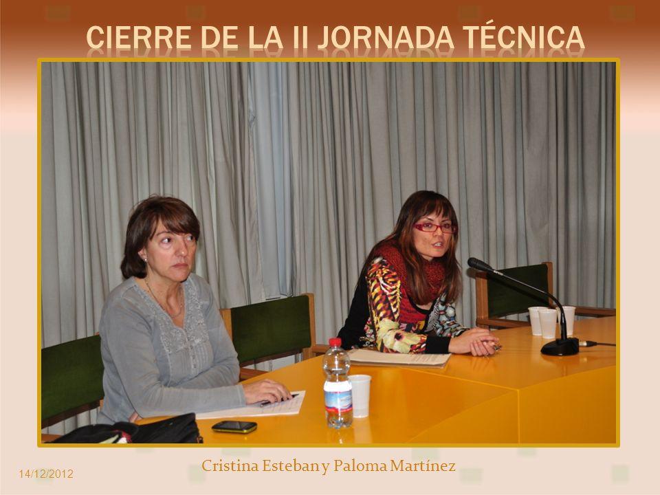 Cristina Esteban y Paloma Martínez 14/12/2012