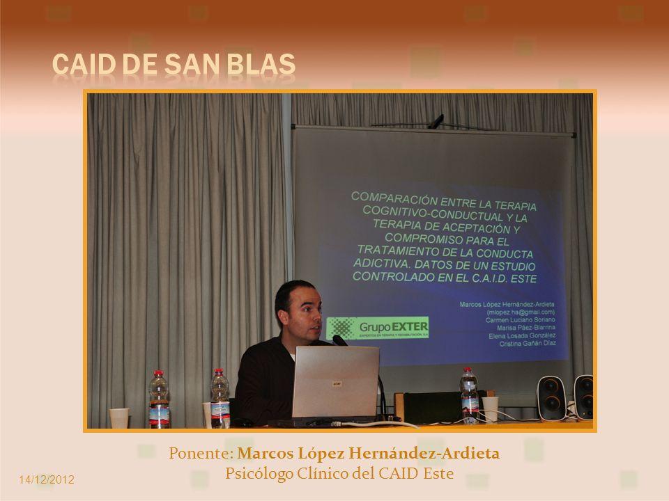 Ponentes: Mar Cendoya y Elena Gómez Directora del CD Y EASC de Vallecas y Psicóloga del EASC de Vallecas 14/12/2012