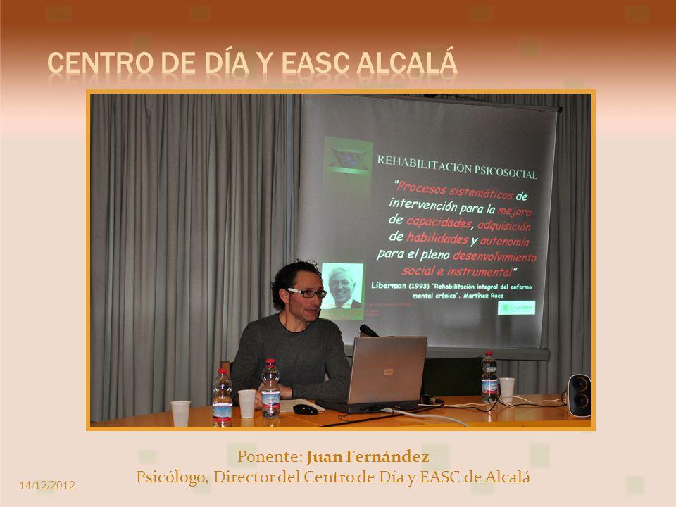 Ponentes: Rocío Caballero y Cristina Tur Psicóloga del CRPS Móstoles y Psicóloga del EASC Moratalaz 14/12/2012