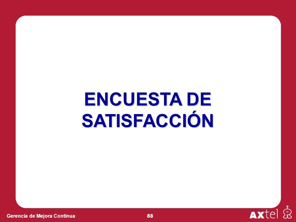 88 Gerencia de Mejora Continua ENCUESTA DE SATISFACCIÓN