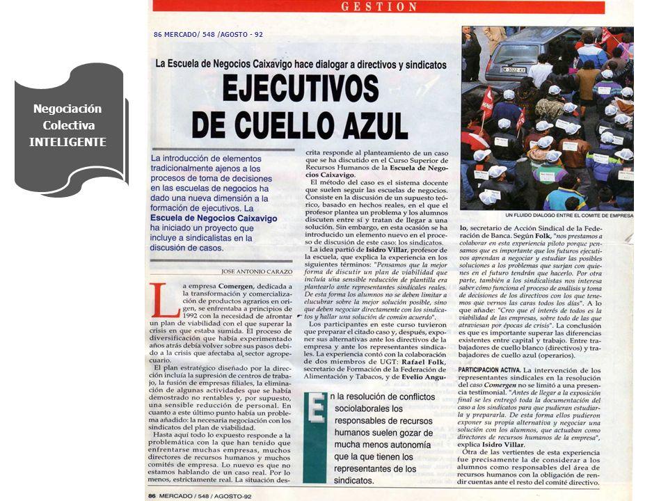 Negociación Colectiva INTELIGENTE 86 MERCADO/ 548 /AGOSTO - 92