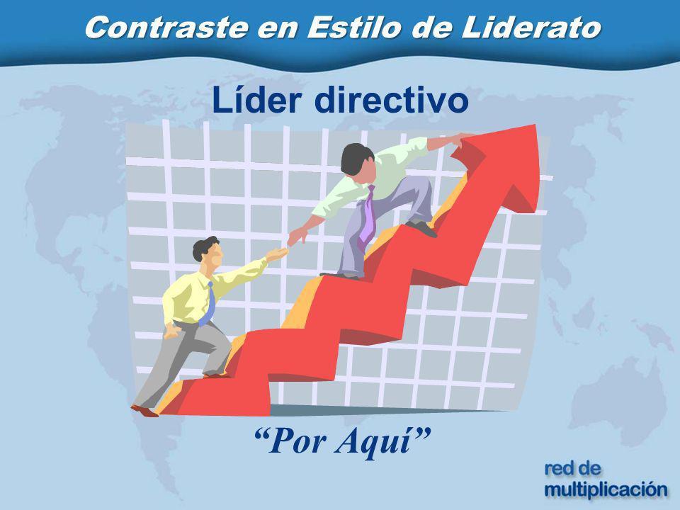 Líder directivo Por Aquí Contraste en Estilo de Liderato