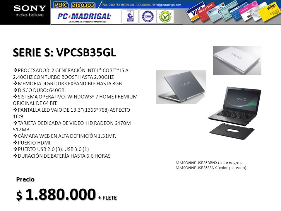 MPSONNCDW580BCNB (color negro).