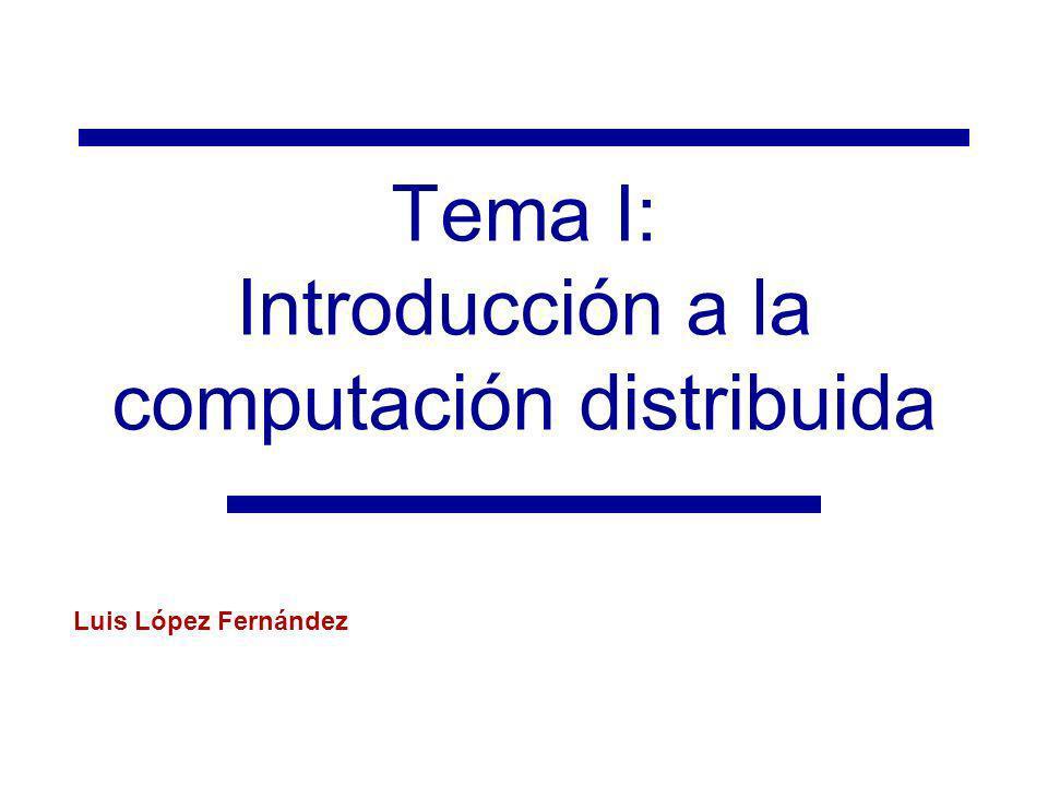 Tema I: Introducción a la computación distribuida Luis López Fernández