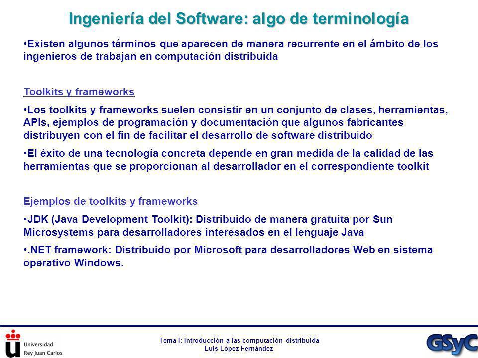 Tema I: Introducción a las computación distribuida Luis López Fernández Existen algunos términos que aparecen de manera recurrente en el ámbito de los