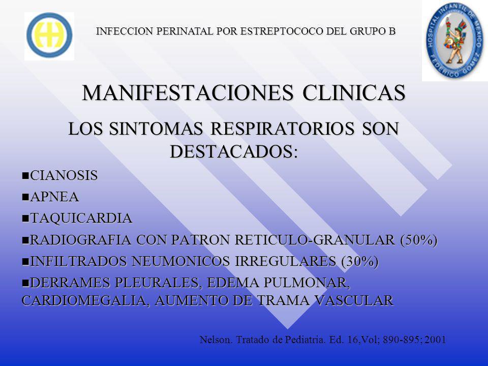 INFECCION PERINATAL POR ESTREPTOCOCO DEL GRUPO B EL 80% DE LOS CASOS DESARROLLA SEPSIS NEONATAL TEMPRANA Y 20% DE INICIO TARDIO.