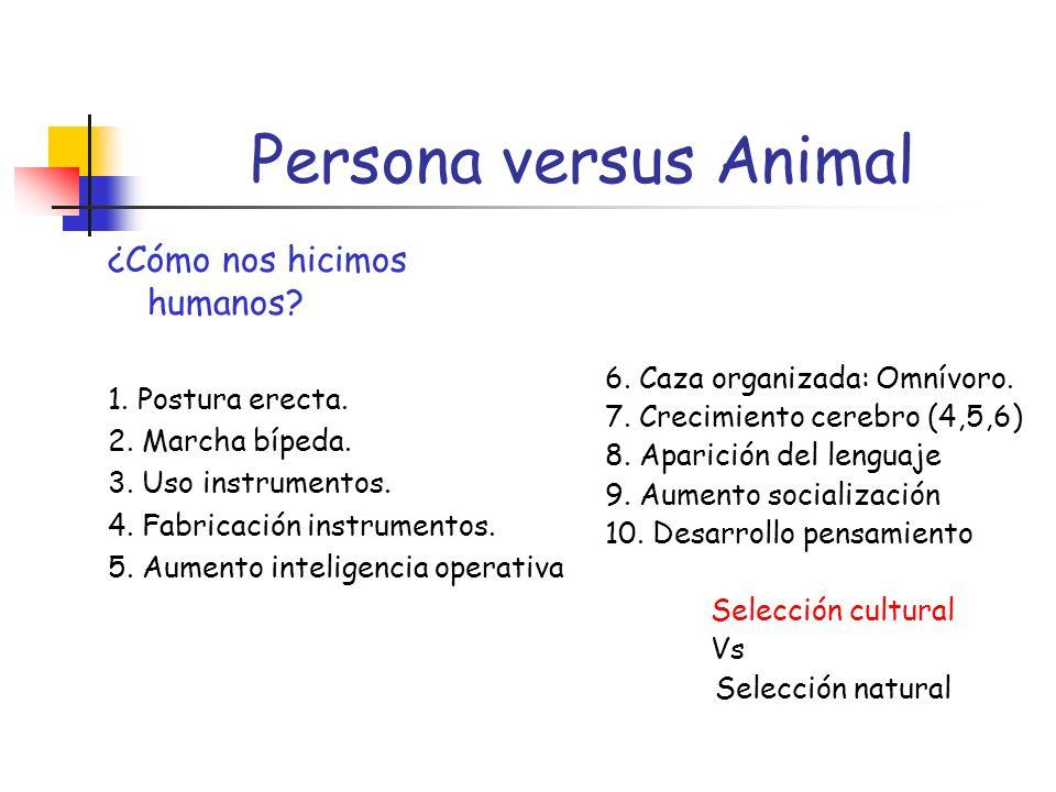 Persona versus Animal ¿Cómo nos hicimos humanos.1.