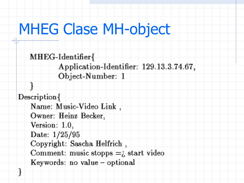 MHEG Clase MH-object
