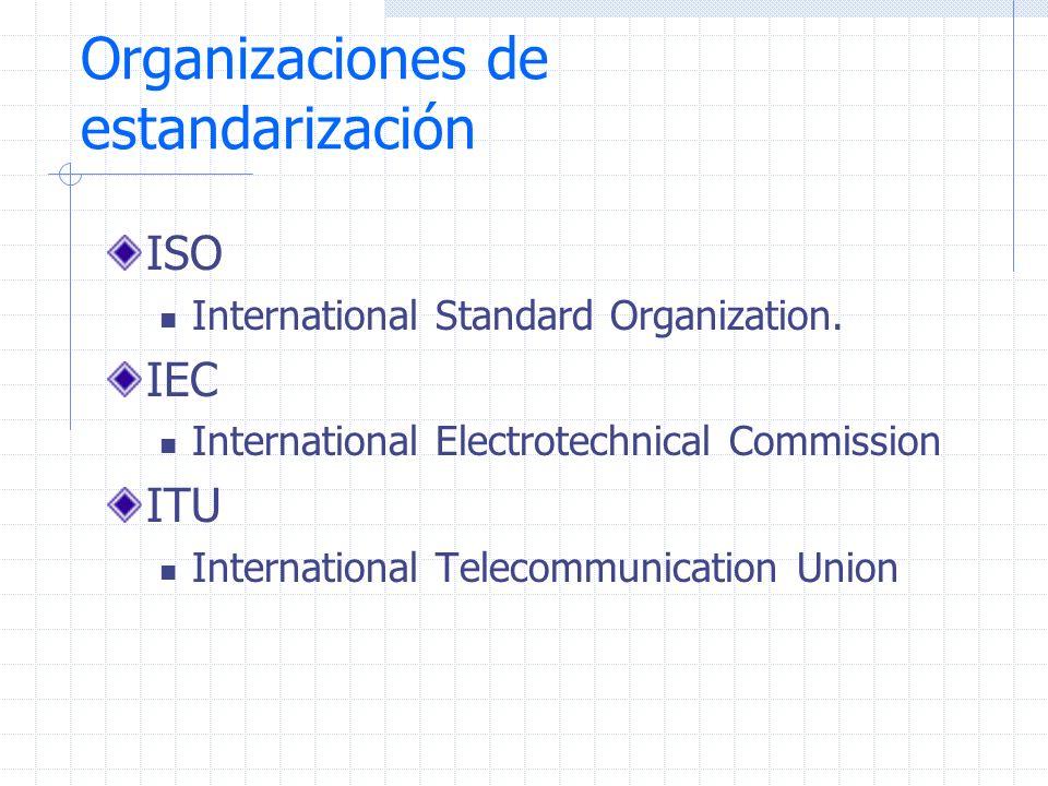 Otras Organizaciones de Estandarización IETF Internet Engineering Task Force (RFC).