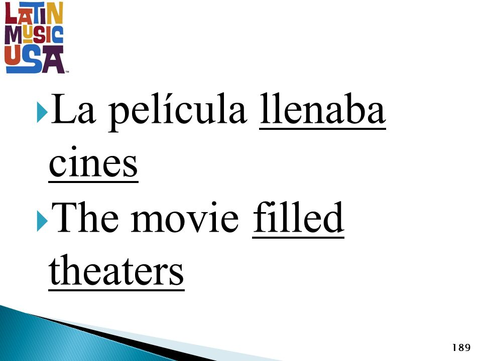 La película llenaba cines The movie filled theaters 189