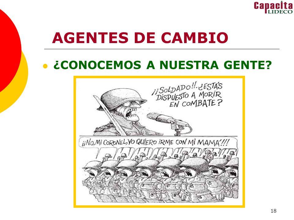 18 AGENTES DE CAMBIO ¿CONOCEMOS A NUESTRA GENTE?