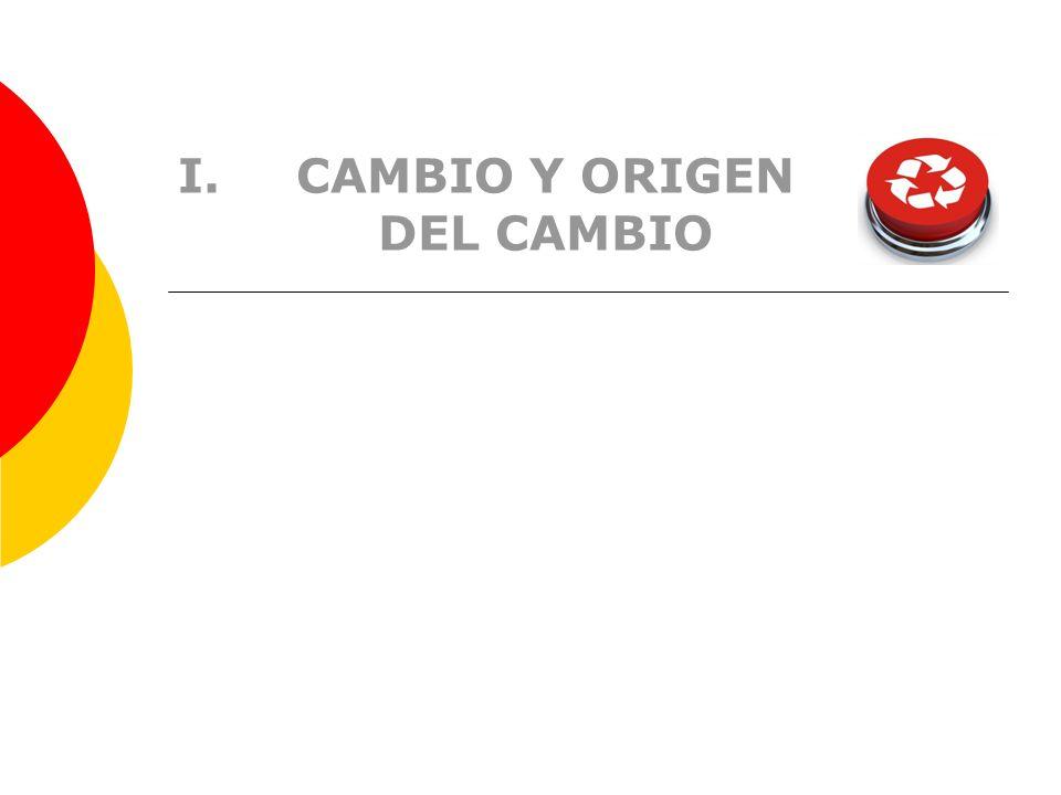 I.CAMBIO Y ORIGEN DEL CAMBIO