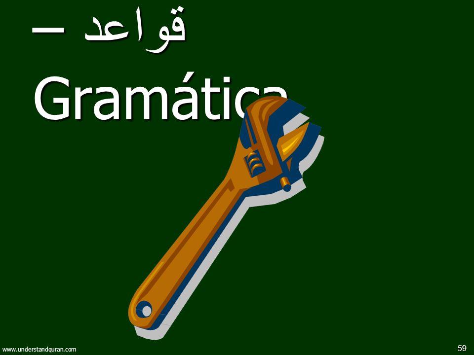 59 www.understandquran.com قواعد – Gramática