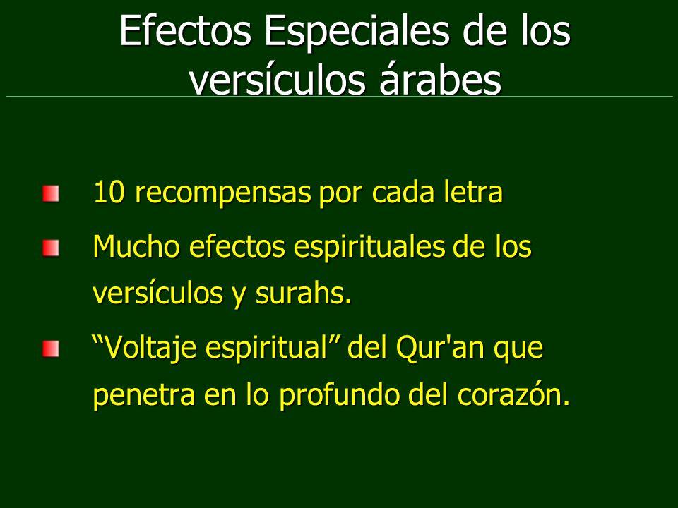Efectos Especiales de los versículos árabes 10 recompensas por cada letra Mucho efectos espirituales de los versículos y surahs. Voltaje espiritual de