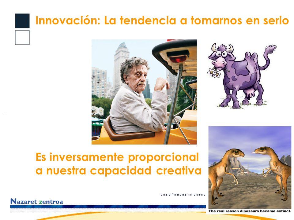 Innovación: La tendencia a tomarnos en serio Es inversamente proporcional a nuestra capacidad creativa