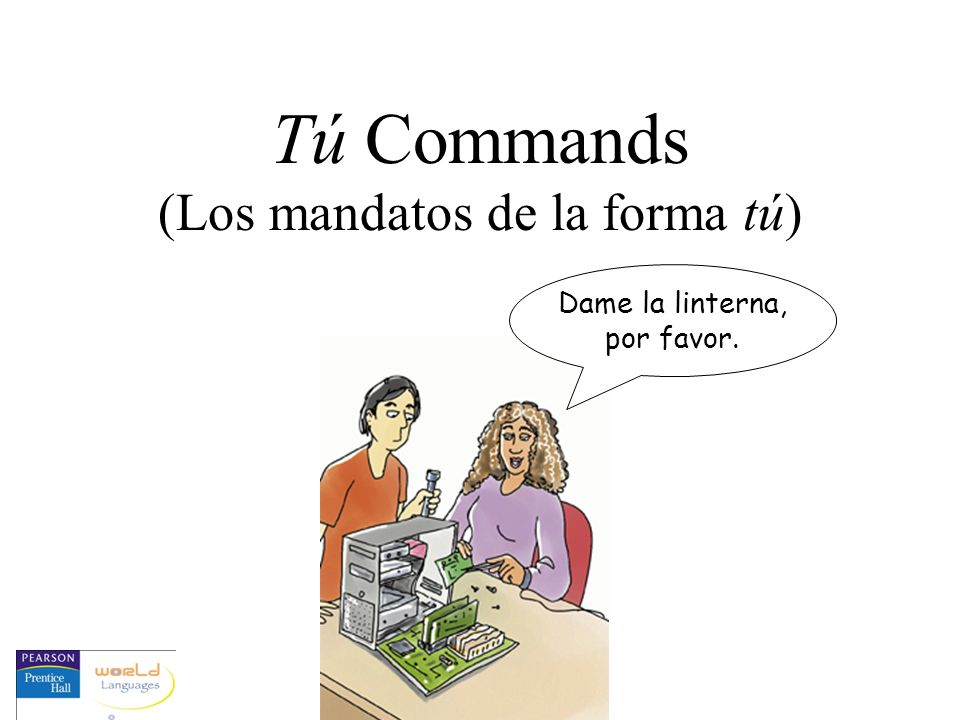 Think like él.For regular affirmative commands...