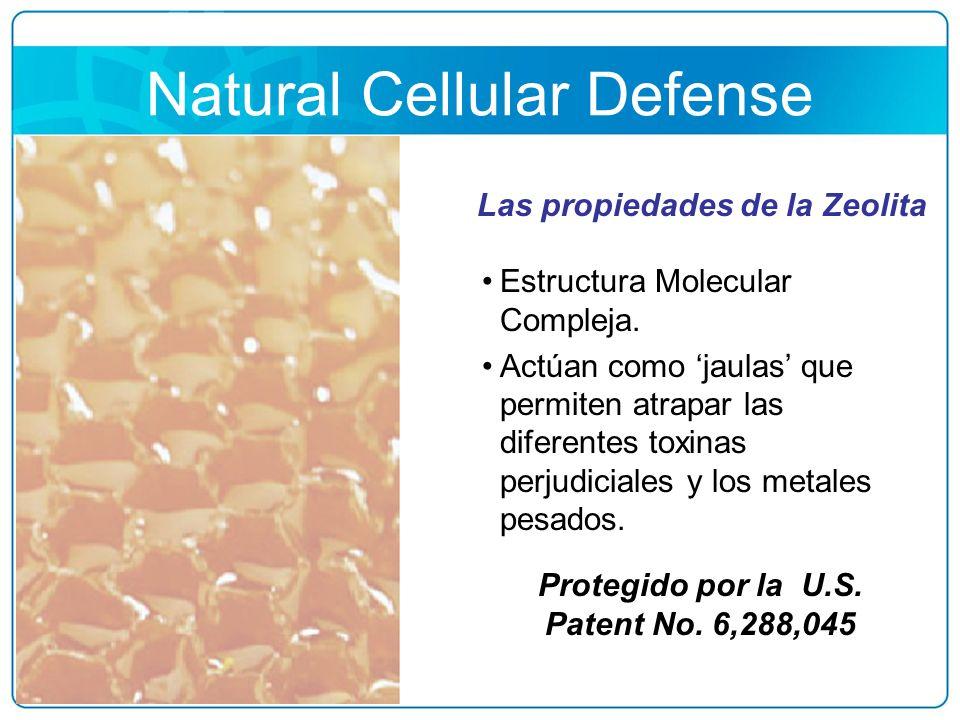 Natural Cellular Defense Estructura Molecular Compleja. Actúan como jaulas que permiten atrapar las diferentes toxinas perjudiciales y los metales pes