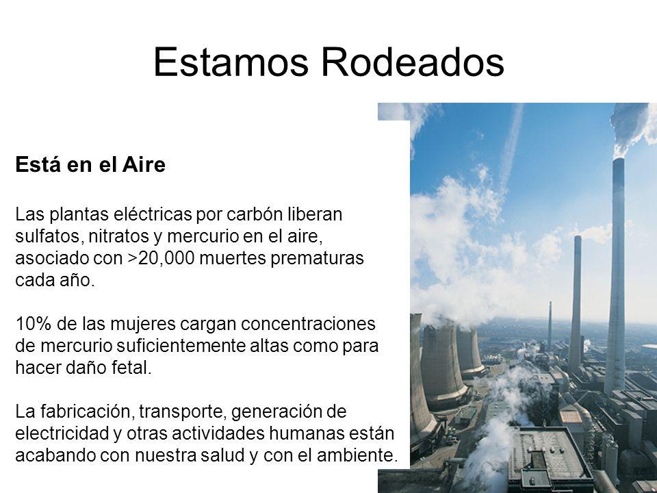 Estamos Rodeados Está en el Aire Las plantas eléctricas por carbón liberan sulfatos, nitratos y mercurio en el aire, asociado con >20,000 muertes prem