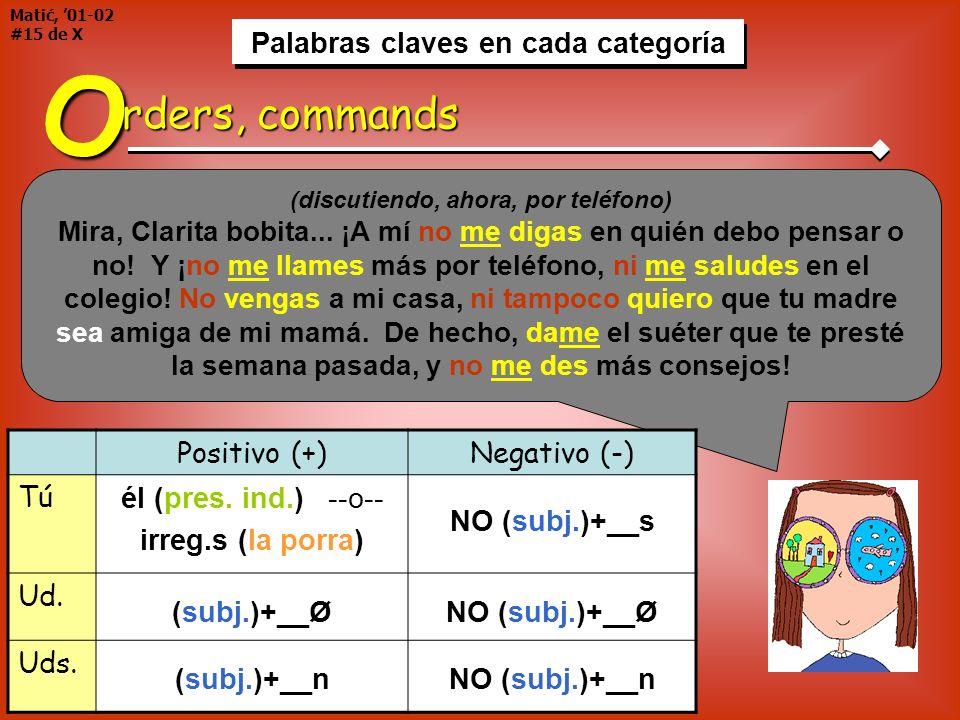 Palabras claves en cada categoría Matić, 01-02 #15 de X Palabras claves en cada categoría Lupita inmediatamente se puso triste y enojada a la vez, y l