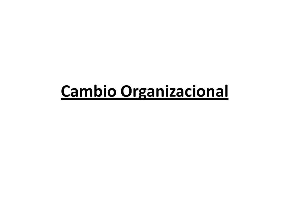 Cambio en la estructura Complejidad: Considera cuanta diferenciación hay en la organización, entre mas división del trabajo, mas niveles verticales en la jerarquía y mas dispersión geográfica entre las unidades de la organización, mas difícil será coordinar a la gente y sus actividades.