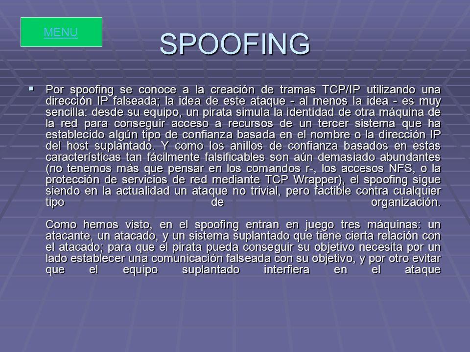 SNIFFING En informática, un packet sniffer es un programa de captura de las tramas de red.
