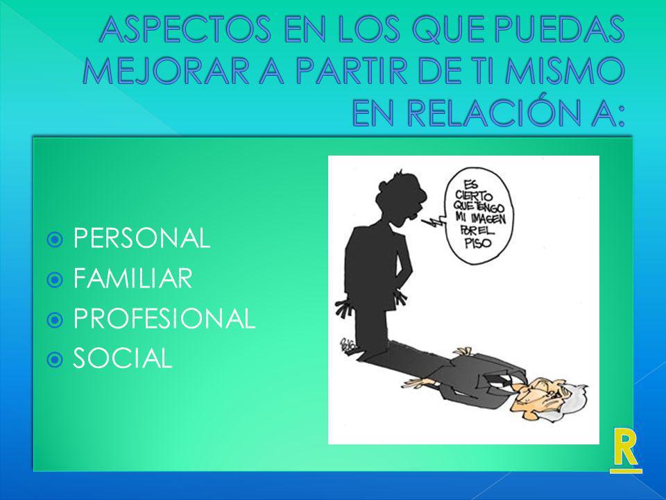 PERSONAL FAMILIAR PROFESIONAL SOCIAL PERSONAL FAMILIAR PROFESIONAL SOCIAL