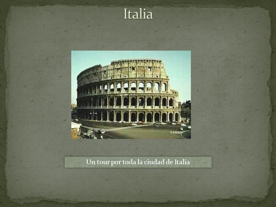 Un tour por toda la ciudad de Italia