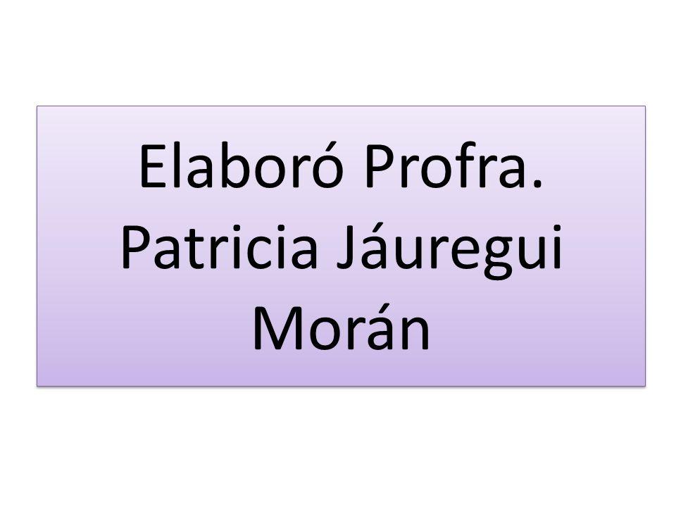 Elaboró Profra. Patricia Jáuregui Morán
