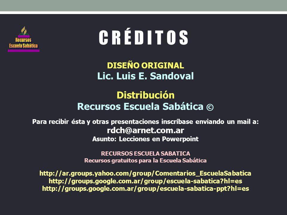 DISEÑO ORIGINAL Lic. Luis E.
