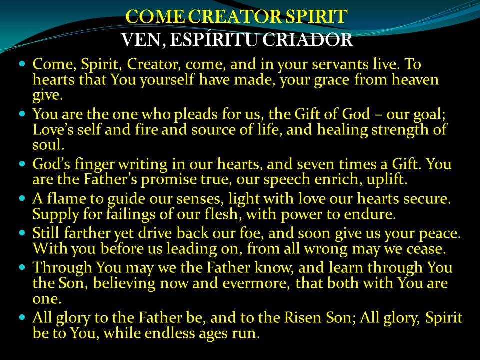Rooted in Gods love Christ in me Vivified by the Spirit Arraigada en el amor de Dios Cristo in mi Vivificada por Su Espíritu .