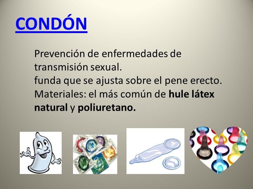 CONDÓN Prevención de enfermedades de transmisión sexual.