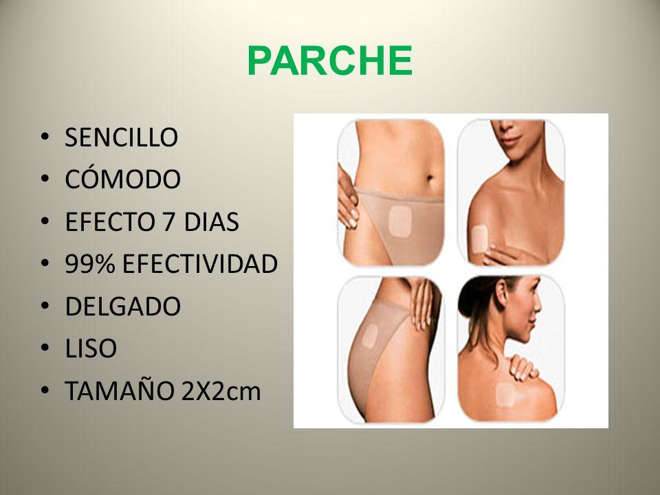 PARCHE SENCILLO CÓMODO EFECTO 7 DIAS 99% EFECTIVIDAD DELGADO LISO TAMAÑO 2X2cm