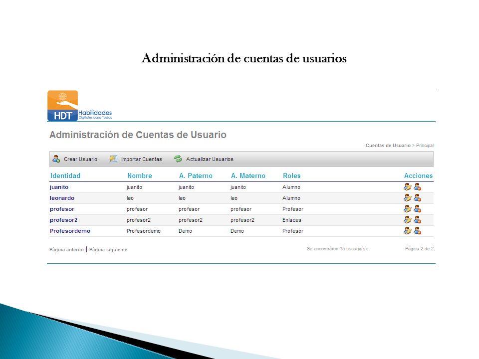 Administración de cuentas de usuarios
