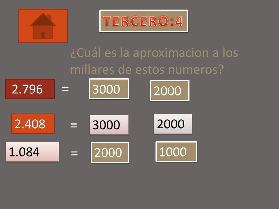 Ordena estos números de mayor a menor: 58.626, 58.762, 58.431, 57.462.