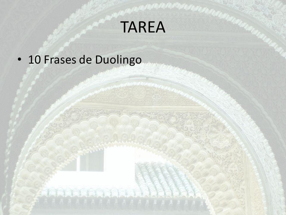 TAREA 10 Frases de Duolingo