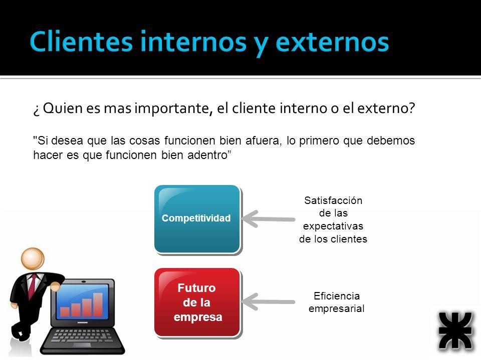 ¿ Quien es mas importante, el cliente interno o el externo.