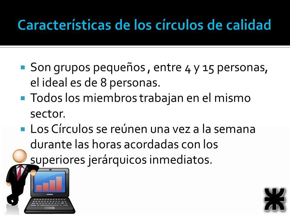 Son grupos pequeños, entre 4 y 15 personas, el ideal es de 8 personas.