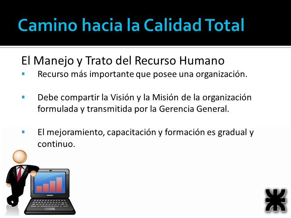 El Manejo y Trato del Recurso Humano Recurso más importante que posee una organización. Debe compartir la Visión y la Misión de la organización formul