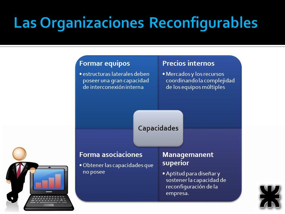 Formar equipos estructuras laterales deben poseer una gran capacidad de interconexión interna Precios internos Mercados y los recursos coordinando la